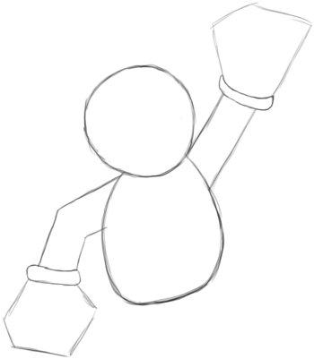 Step 2: Mario's body Outline