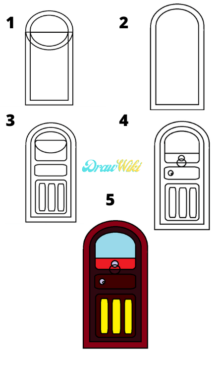 How to draw a round Closed-door