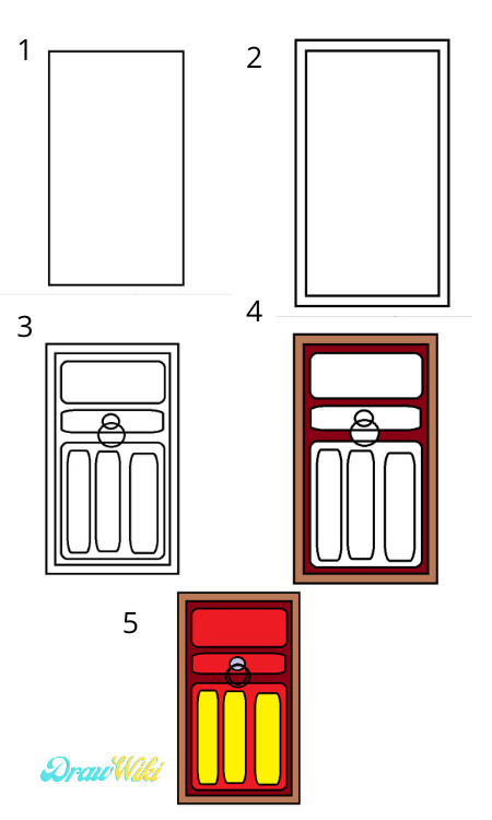 How to draw a Closed ordinary door