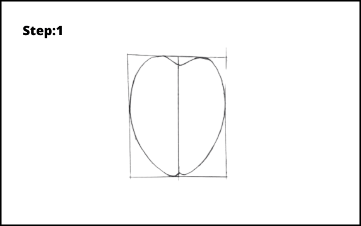 How to draw a bug  step 1