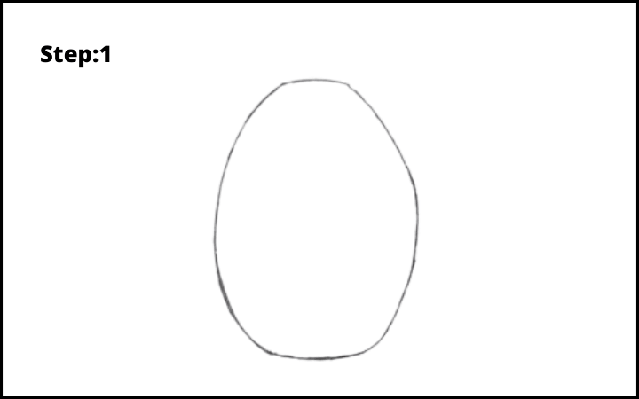 How to draw a pineapple step 1