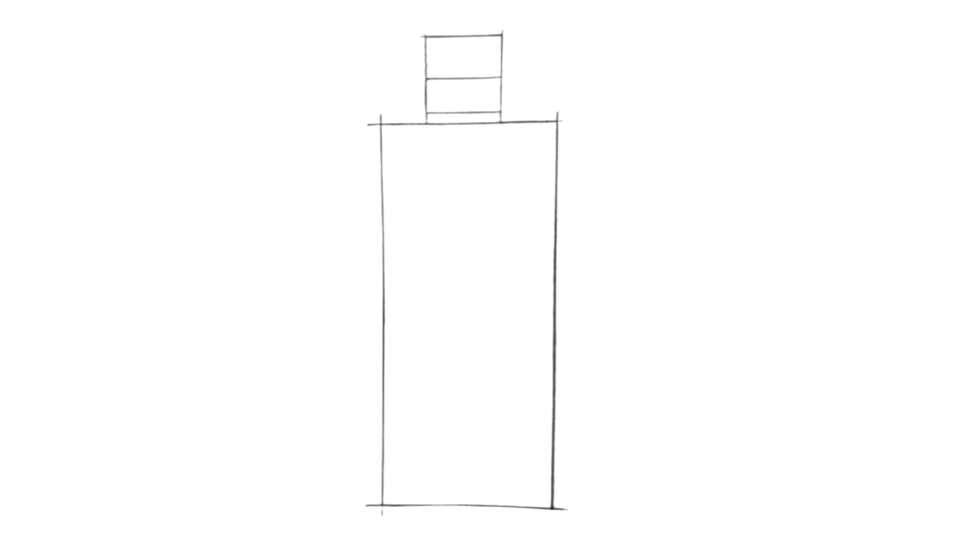 How To Draw a Bottle Step 1