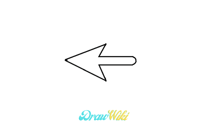 pointing Arrow drawing step 7