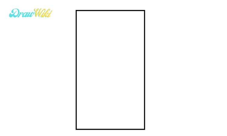 How to draw a Closed ordinary door step1