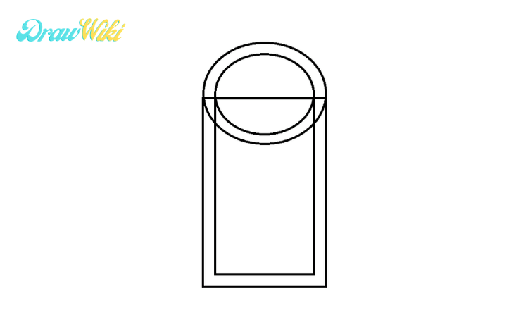 How to draw a round Closed-door step1