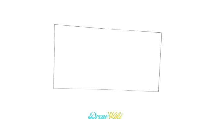 How To Draw an Open Book step1