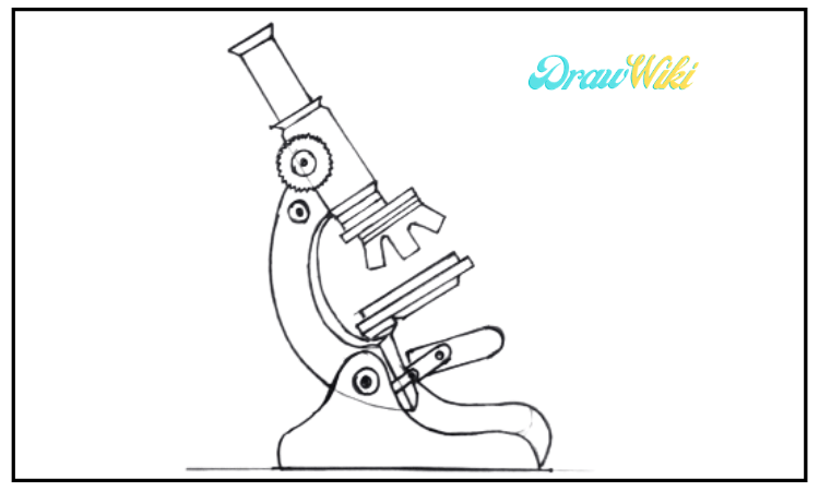 How to draw a microscope step 10
