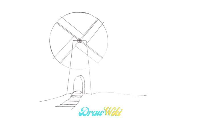How To Draw a Windmill Step 9