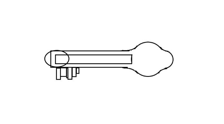 How To Draw a Key step 10