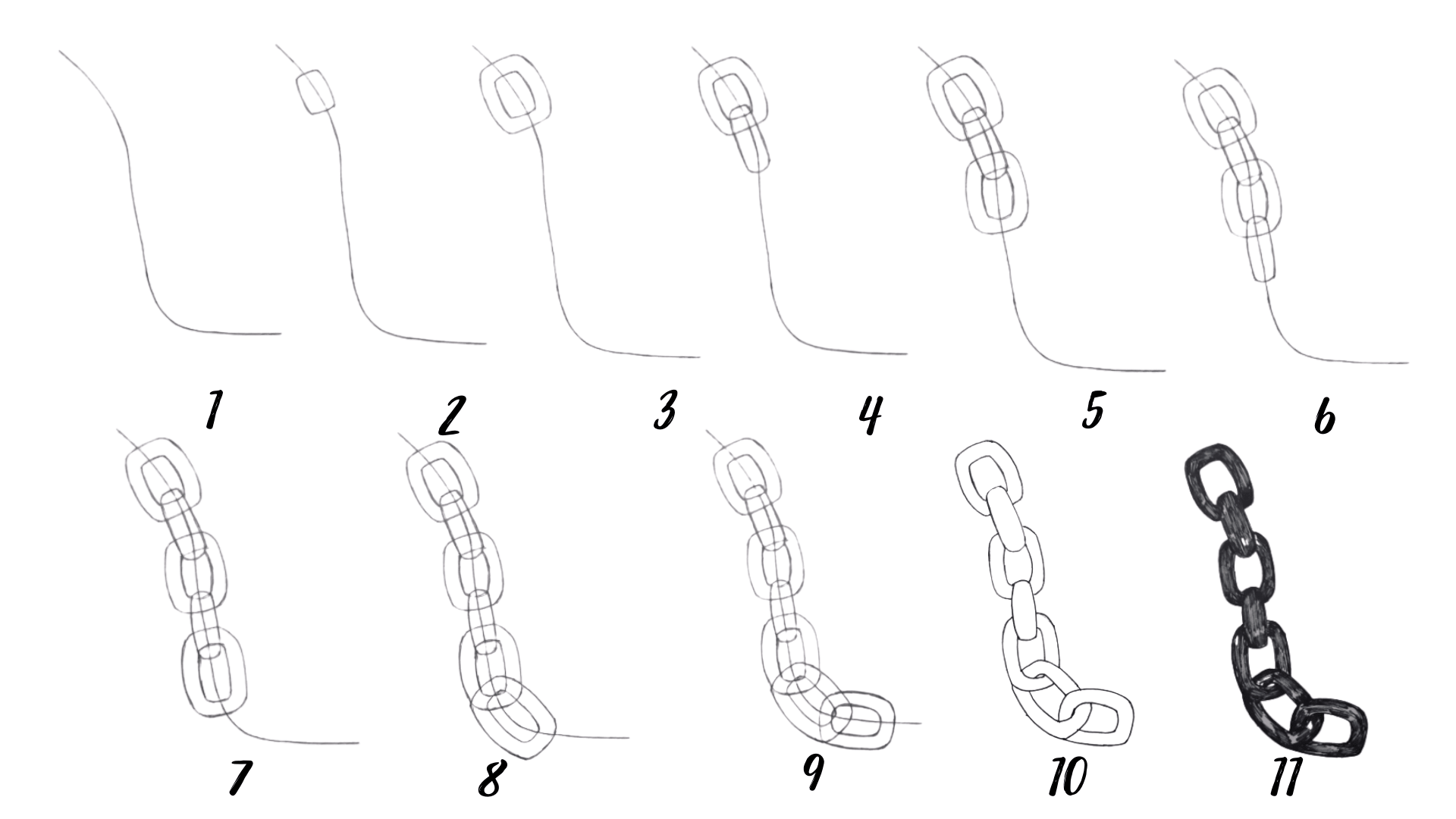 How To Draw A Chain Step By Step Easy Guides