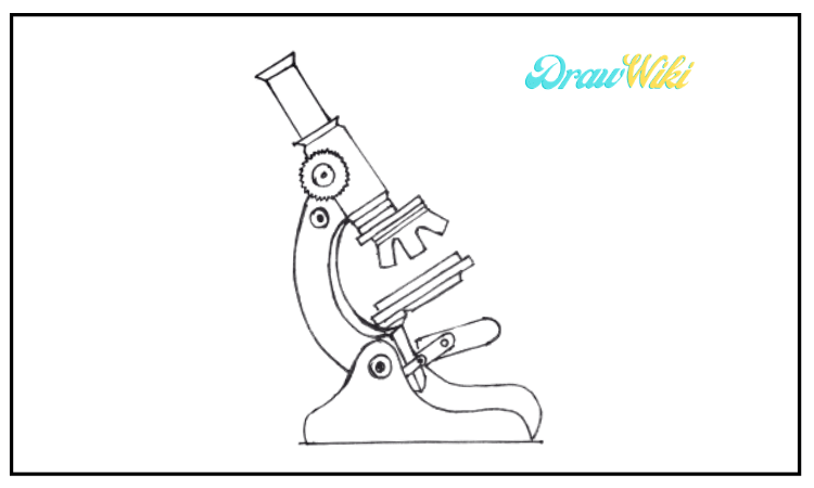 How to draw a microscope step by step beginners guide