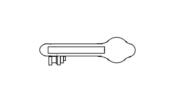 How To Draw a Key step 11