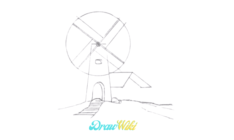 How To Draw a Windmill Step 11