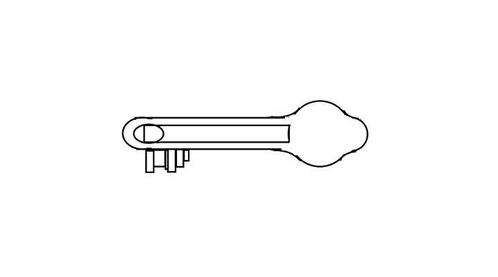How To Draw a Key step 12