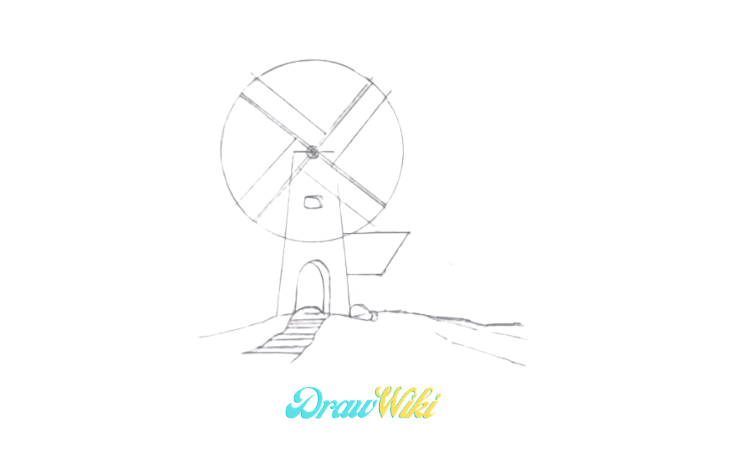 How To Draw a Windmill Step 10