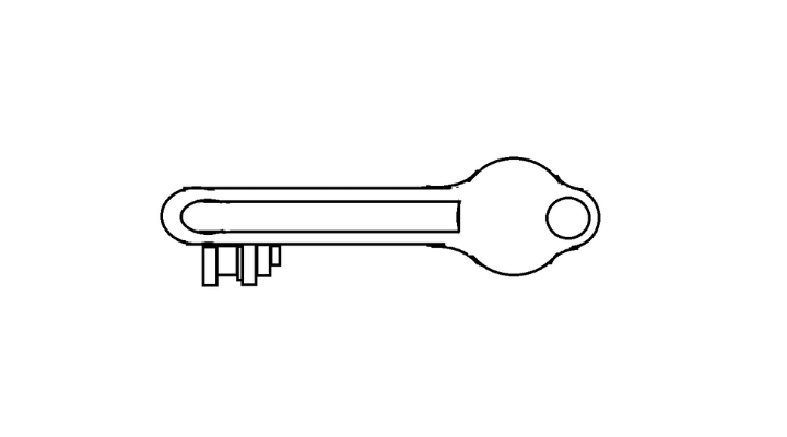 How To Draw a Key step 13