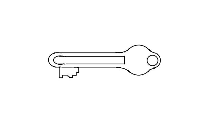 How To Draw a Key step 14
