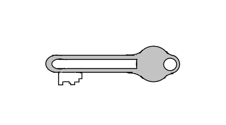 How To Draw a Key step 15