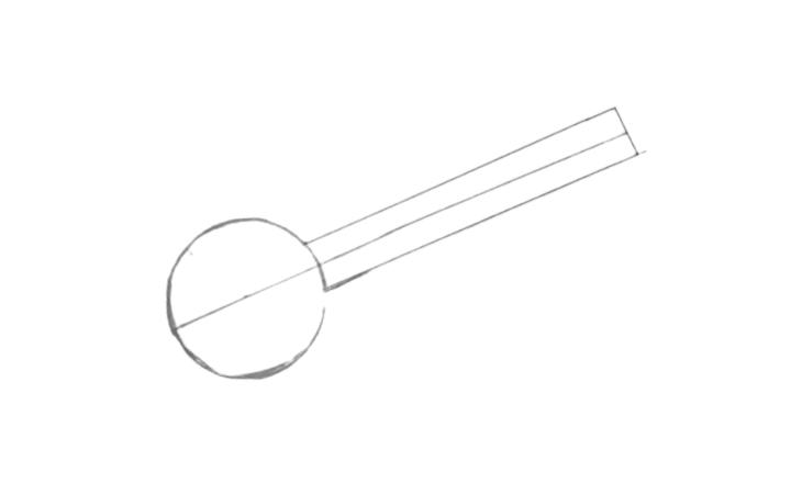 sitar drawing step 2