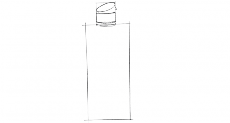 How To Draw a Bottle Step 2