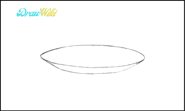 How To Draw a Plate step 2