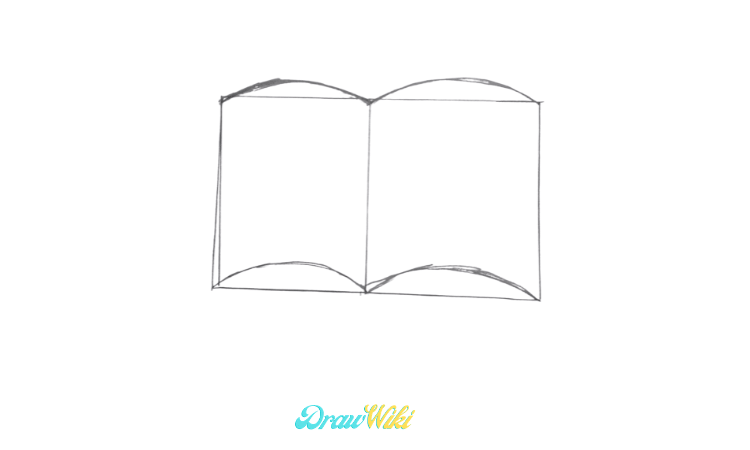 How To Draw an Open Book step 2