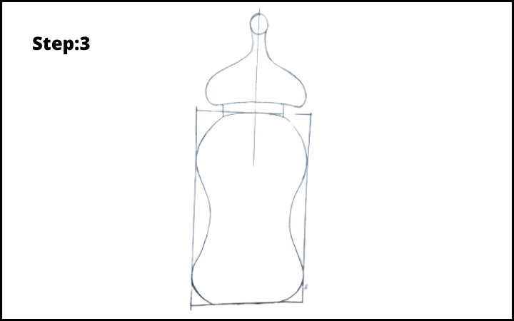 Baby Bottle Drawing step 3