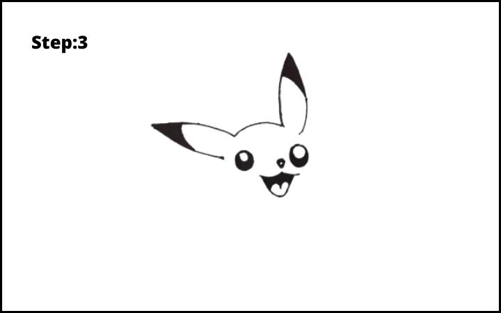 How to Draw Pikachu Pokemon step 3