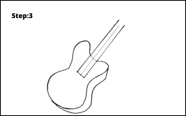 Draw a Guitar step 3
