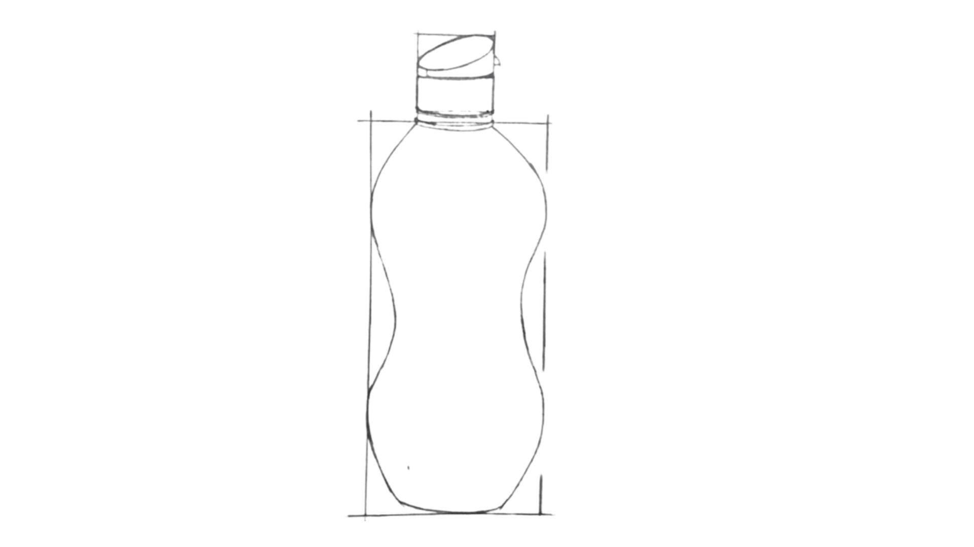 How To Draw a Bottle Step 3