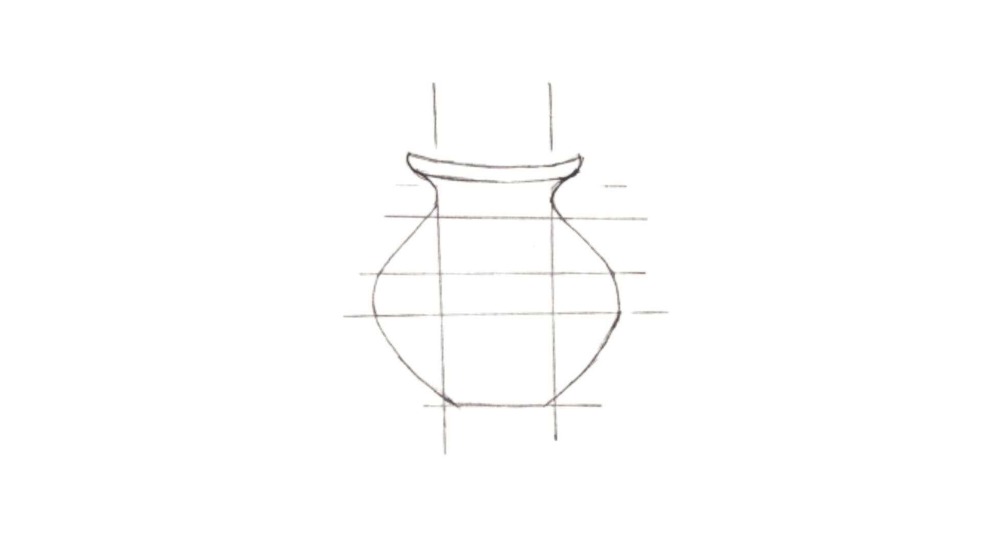 Pongal pot drawing step 3