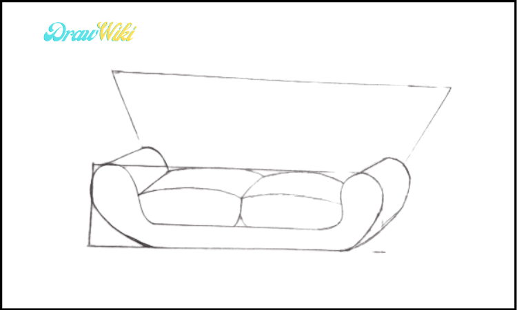 Couch Drawing step three