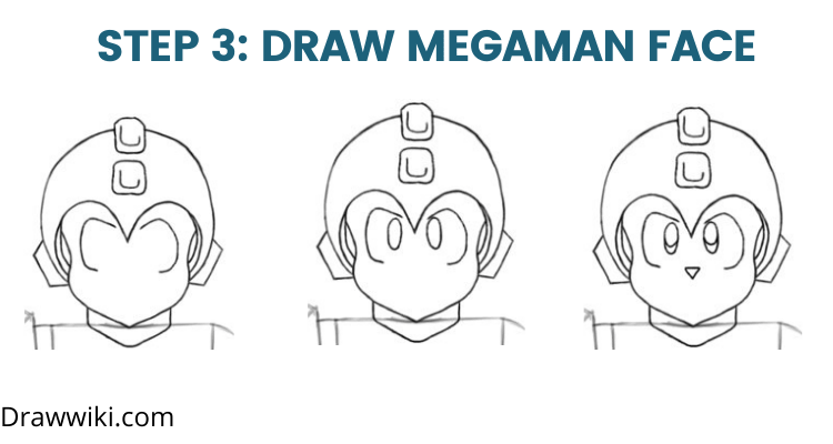 Step 3: Draw Megaman Face