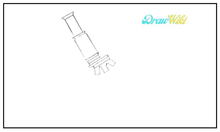draw a microscope step 3