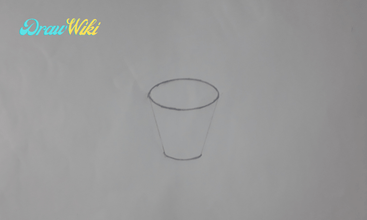 How to draw a flower with pot step 3