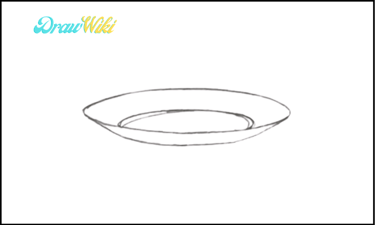 How To Draw a Plate step 3