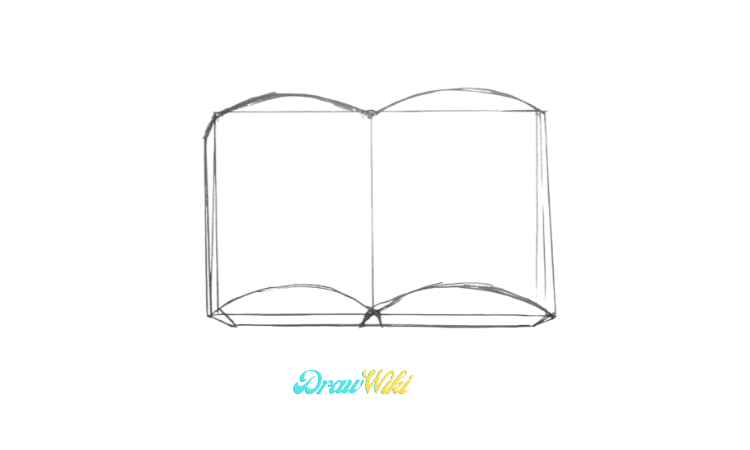 How To Draw an Open Book step 3