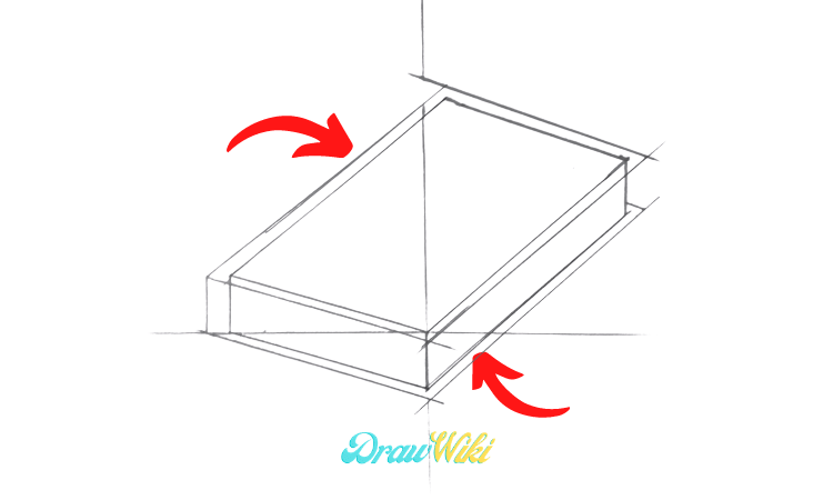 How To Draw a closed Book step 3