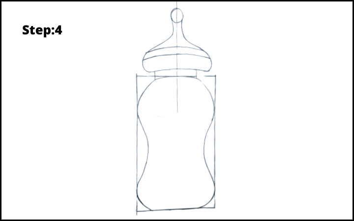 Baby Bottle Drawing  step 4