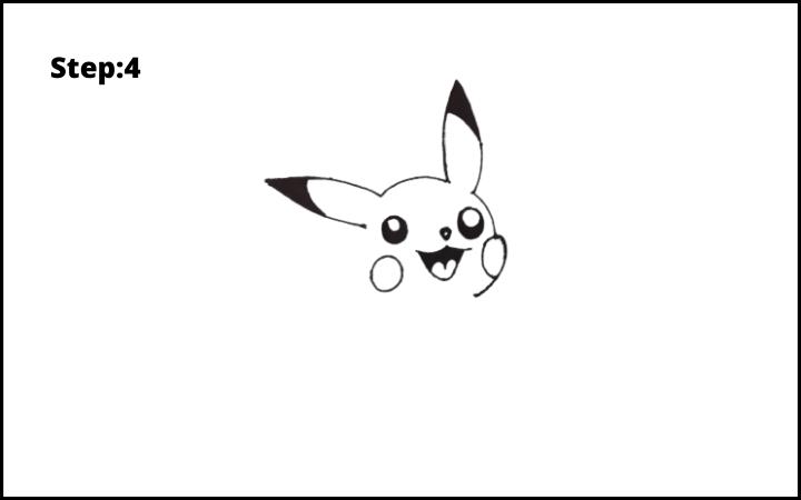 How to Draw Pikachu Pokemon step4