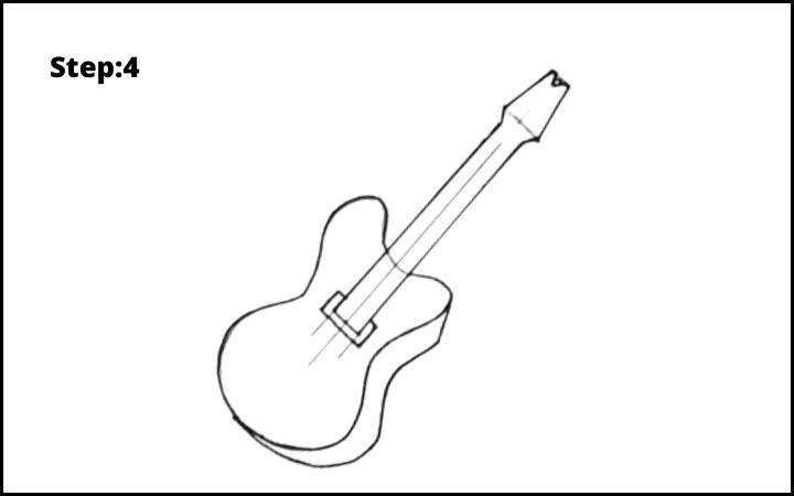 Draw a Guitar step 4