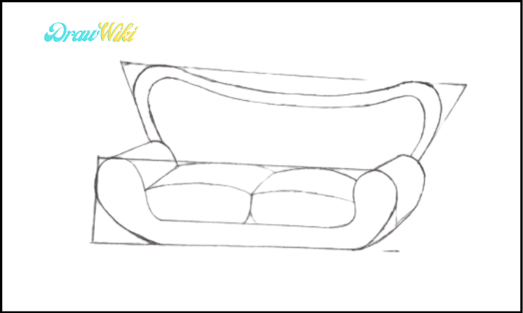 Couch Drawing step 4