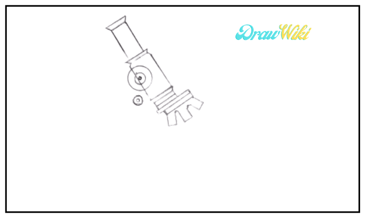 draw a microscope step 4