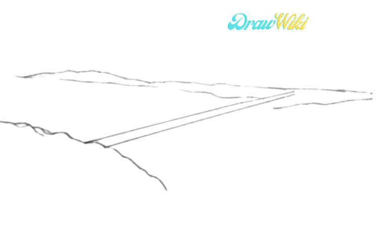 How To Draw Golden Gate Bridge Step 4