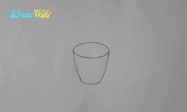 How to draw a flower with pot step 4