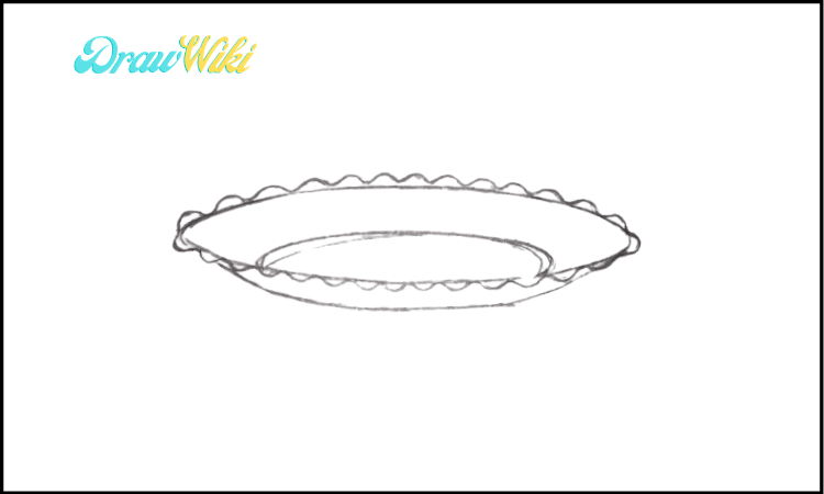 How To Draw a Plate step 4