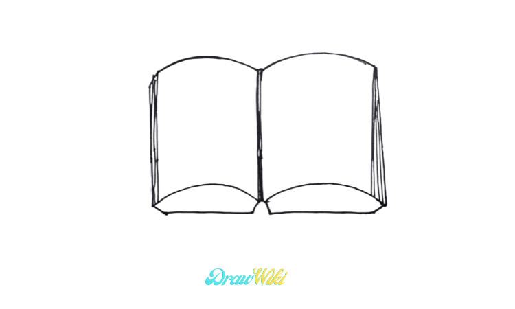 How To Draw an Open Book step 4