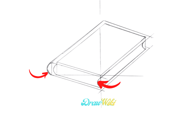 How To Draw a closed Book step 4