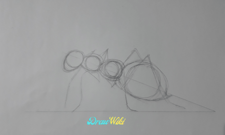 Step 6:  Draw The Ant Legs