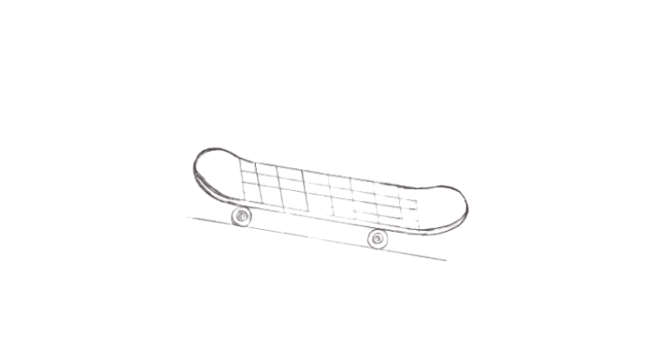 How to Draw a Skateboard step 4